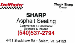 Sharp Asphalt Sealing